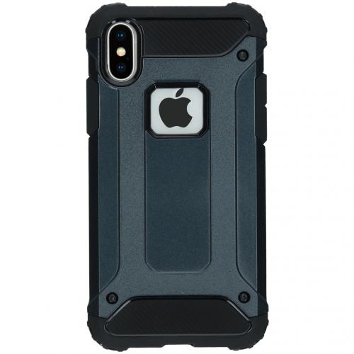 Rugged Xtreme Backcover voor de iPhone X - Donkerblauw