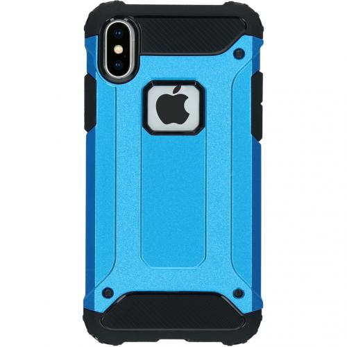 Rugged Xtreme Backcover voor de iPhone X - Lichtblauw