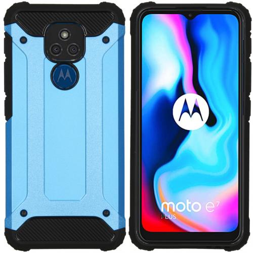 Rugged Xtreme Backcover voor de Motorola Moto E7 Plus / G9 Play - Lichtblauw