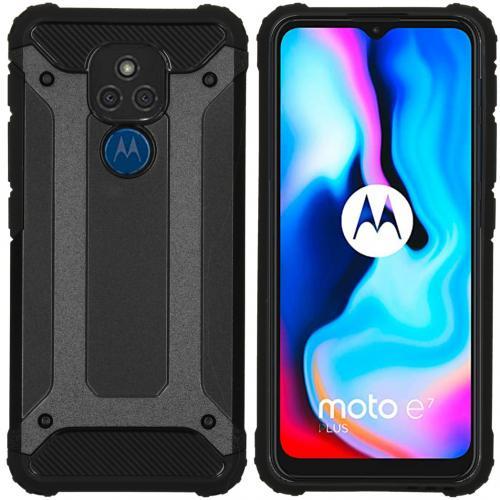 Rugged Xtreme Backcover voor de Motorola Moto E7 Plus / G9 Play - Zwart