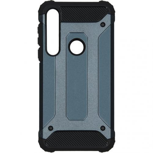 Rugged Xtreme Backcover voor de Motorola Moto G8 Plus - Donkerblauw