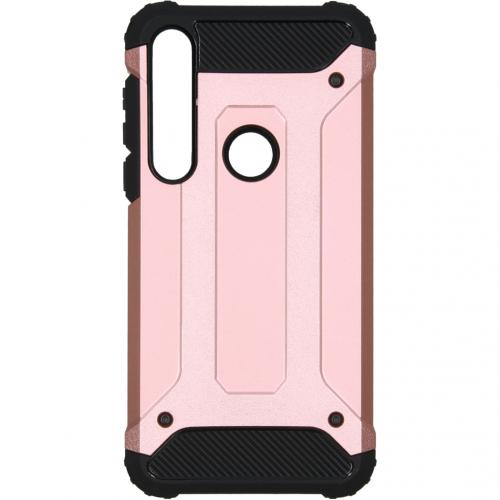 Rugged Xtreme Backcover voor de Motorola Moto G8 Plus - Rosé Goud