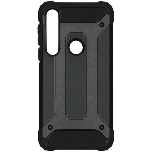 Rugged Xtreme Backcover voor de Motorola Moto G8 Plus - Zwart