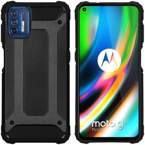 Rugged Xtreme Backcover voor de Motorola Moto G9 Plus - Zwart