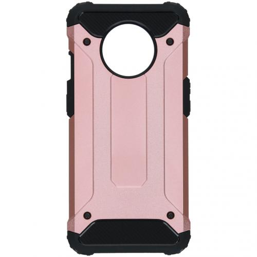 Rugged Xtreme Backcover voor de OnePlus 7T - Rosé Goud