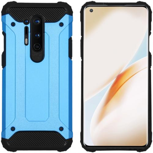 Rugged Xtreme Backcover voor de OnePlus 8 Pro - Lichtblauw