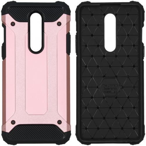 Rugged Xtreme Backcover voor de OnePlus 8 - Rosé Goud