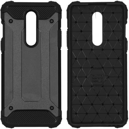 Rugged Xtreme Backcover voor de OnePlus 8 - Zwart