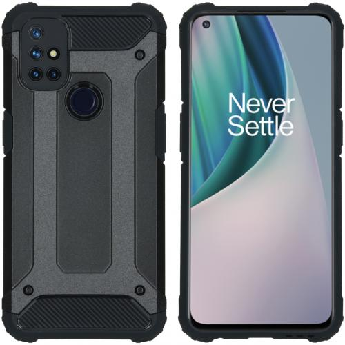 Rugged Xtreme Backcover voor de OnePlus Nord N10 5G - Zwart