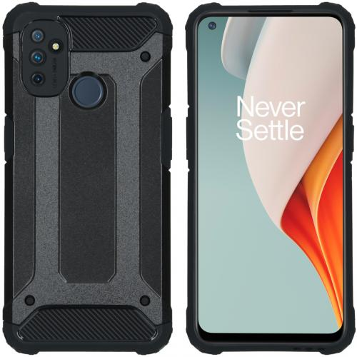 Rugged Xtreme Backcover voor de OnePlus Nord N100 - Zwart