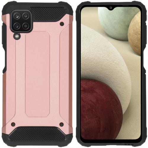 Rugged Xtreme Backcover voor de Samsung Galaxy A12 - Rosé Goud