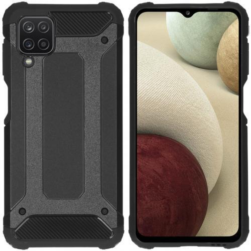 Rugged Xtreme Backcover voor de Samsung Galaxy A12 - Zwart