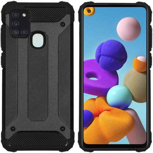 Rugged Xtreme Backcover voor de Samsung Galaxy A21s - Zwart