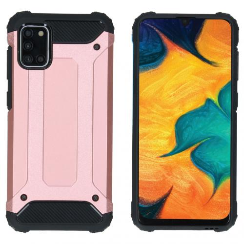 Rugged Xtreme Backcover voor de Samsung Galaxy A31 - Rosé Goud