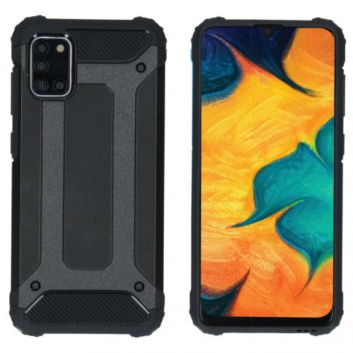 Rugged Xtreme Backcover voor de Samsung Galaxy A31 - Zwart