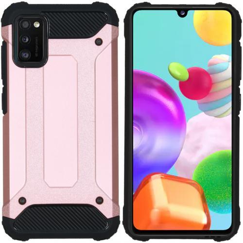 Rugged Xtreme Backcover voor de Samsung Galaxy A41 - Rosé Goud