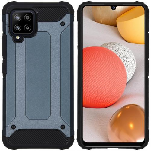 Rugged Xtreme Backcover voor de Samsung Galaxy A42 - Donkerblauw