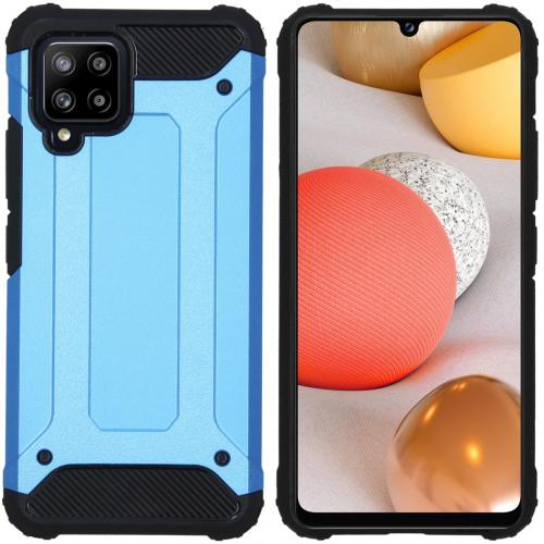 Rugged Xtreme Backcover voor de Samsung Galaxy A42 - Lichtblauw