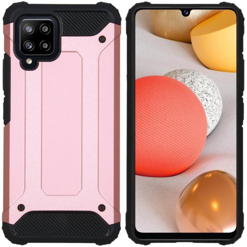 Rugged Xtreme Backcover voor de Samsung Galaxy A42 - Rosé Goud