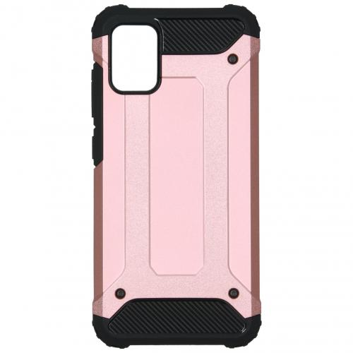 Rugged Xtreme Backcover voor de Samsung Galaxy A51 - Rosé Goud