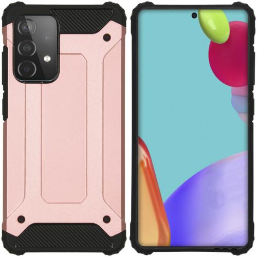 Rugged Xtreme Backcover voor de Samsung Galaxy A52 (5G) / A52 (4G) - Rosé Goud