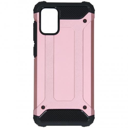Rugged Xtreme Backcover voor de Samsung Galaxy A71 - Rosé Goud