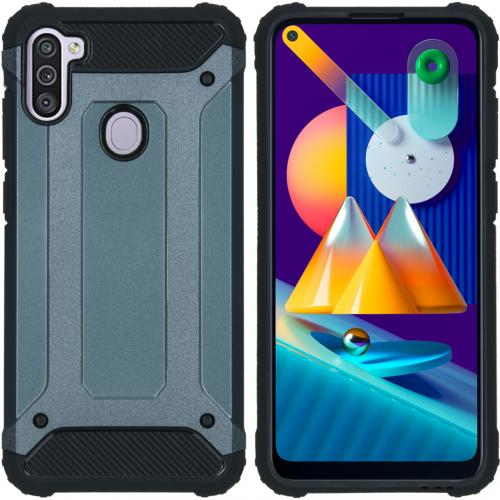 Rugged Xtreme Backcover voor de Samsung Galaxy M11 / A11 - Donkerblauw