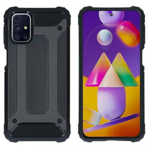 Rugged Xtreme Backcover voor de Samsung Galaxy M31s - Zwart