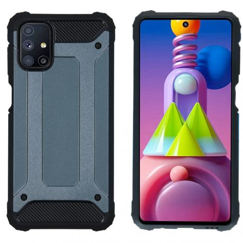 Rugged Xtreme Backcover voor de Samsung Galaxy M51 - Donkerblauw