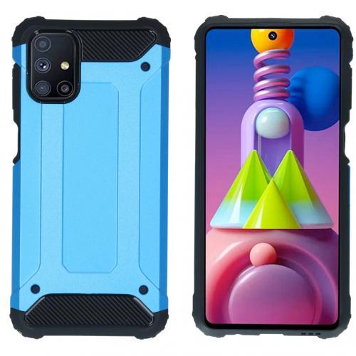 Rugged Xtreme Backcover voor de Samsung Galaxy M51 - Lichtblauw