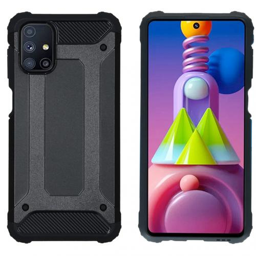 Rugged Xtreme Backcover voor de Samsung Galaxy M51 - Zwart