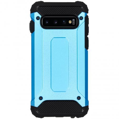 Rugged Xtreme Backcover voor de Samsung Galaxy S10 - Lichtblauw