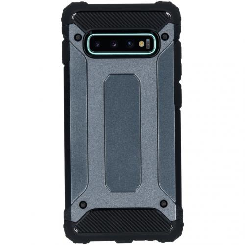 Rugged Xtreme Backcover voor de Samsung Galaxy S10 Plus - Donkerblauw
