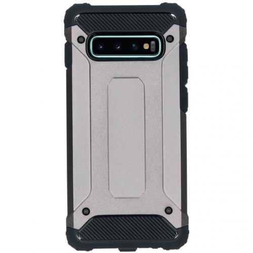 Rugged Xtreme Backcover voor de Samsung Galaxy S10 Plus - Grijs