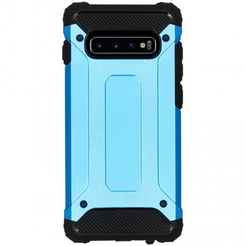 Rugged Xtreme Backcover voor de Samsung Galaxy S10 Plus - Lichtblauw