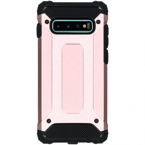 Rugged Xtreme Backcover voor de Samsung Galaxy S10 Plus - Rosé Goud