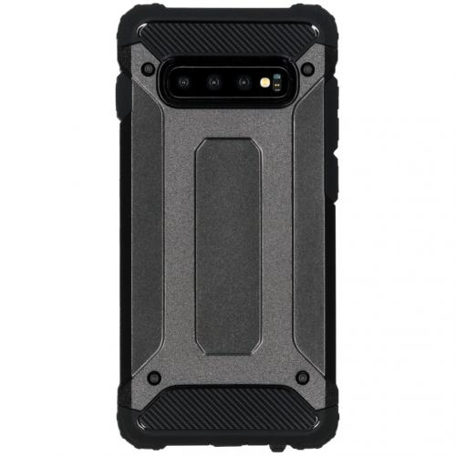Rugged Xtreme Backcover voor de Samsung Galaxy S10 Plus - Zwart