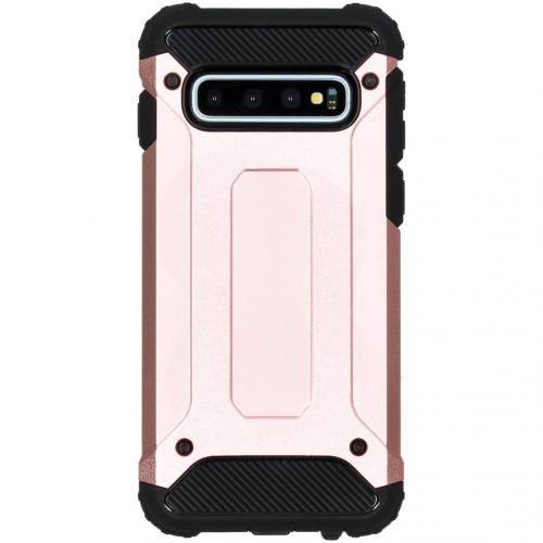 Rugged Xtreme Backcover voor de Samsung Galaxy S10 - Rosé Goud