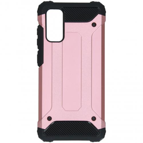 Rugged Xtreme Backcover voor de Samsung Galaxy S20 - Rosé Goud