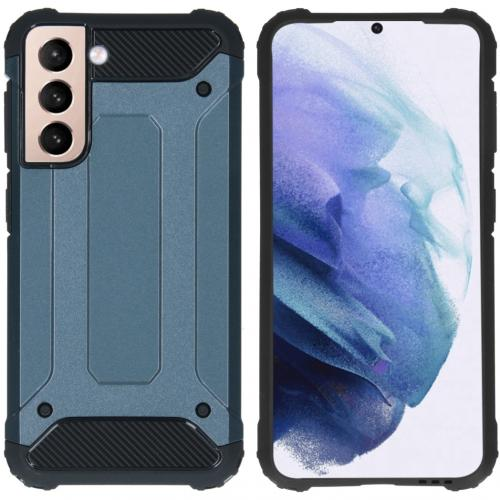 Rugged Xtreme Backcover voor de Samsung Galaxy S21 - Donkerblauw