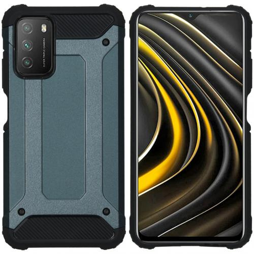 Rugged Xtreme Backcover voor de Xiaomi Poco M3 - Donkerblauw