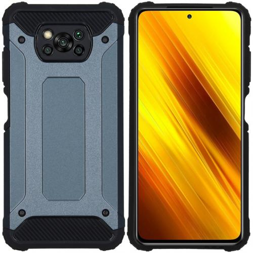 Rugged Xtreme Backcover voor de Xiaomi Poco X3 - Donkerblauw