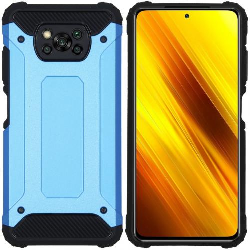Rugged Xtreme Backcover voor de Xiaomi Poco X3 - Lichtblauw