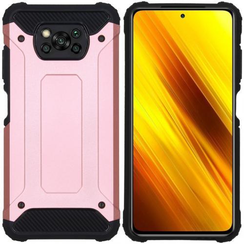 Rugged Xtreme Backcover voor de Xiaomi Poco X3 - Rosé Goud
