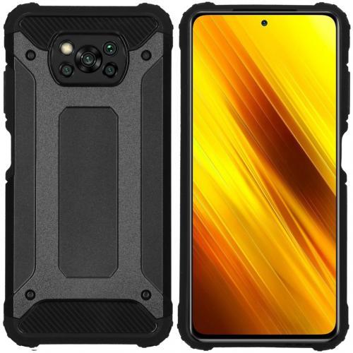 Rugged Xtreme Backcover voor de Xiaomi Poco X3 - Zwart