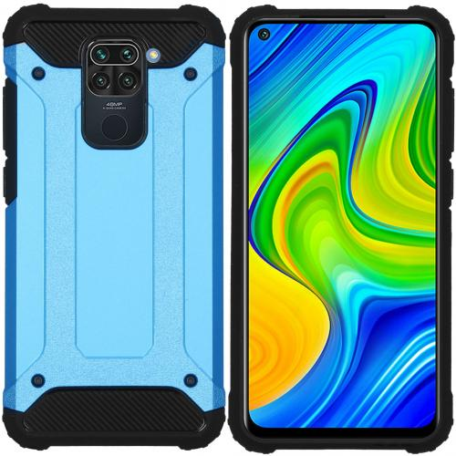 Rugged Xtreme Backcover voor de Xiaomi Redmi Note 9 - Lichtblauw