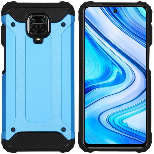 Rugged Xtreme Backcover voor de Xiaomi Redmi Note 9 Pro / 9S - Lichtblauw