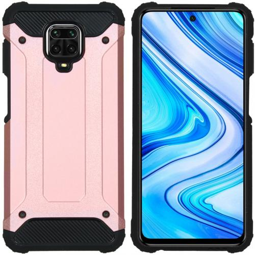 Rugged Xtreme Backcover voor de Xiaomi Redmi Note 9 Pro / 9S - Rosé Goud