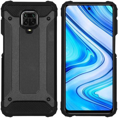 Rugged Xtreme Backcover voor de Xiaomi Redmi Note 9 Pro / 9S - Zwart