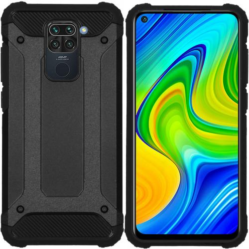 Rugged Xtreme Backcover voor de Xiaomi Redmi Note 9 - Zwart